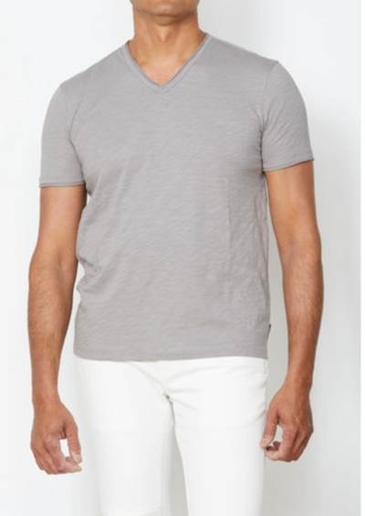 John Varvatos Raw Edge V Neck Tee