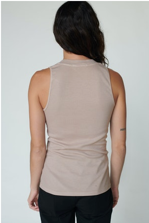 Stateside Mini Rib V Neck Tank