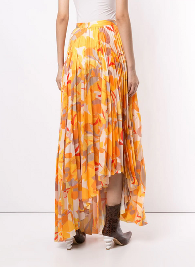 Acler Hooper Skirt in Gold Abstract
