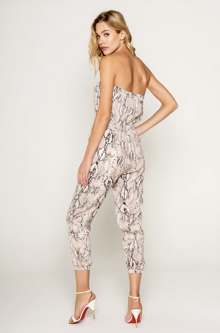 Lavender Brown Sexy Off Shoulder Jumpsuit