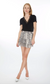 Generation Love Audrina Mini Snake Print Skirt