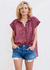 Sundry Short Sleeve Leopard Top