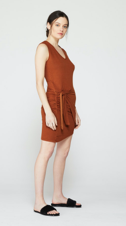 Monrow Tank Dress with Tie