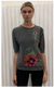 Saccharine Pansy Grey Sweater