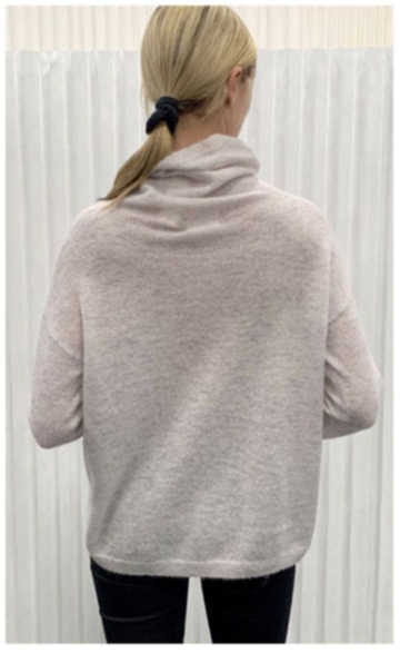 Saccharine Turtle Neck Cream Sweater