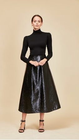 Hunter Bell Alexis Skirt in Black Patina