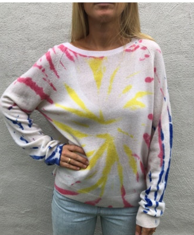 Crush Cashmere Chan Chan Tie Dye Sweater