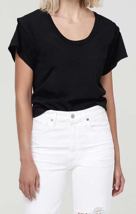 Citizens of Humanity Imani Top in Black