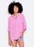 Sundry Oversized More Love Top in Pink