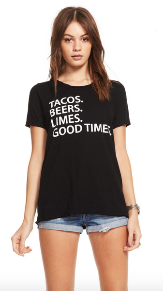 Chaser Tacos Beers Limes Tee - Estilo Boutique