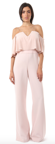 Jay Godfrey Nix Blush Cold Shoulder Jumpsuit - Estilo Boutique
