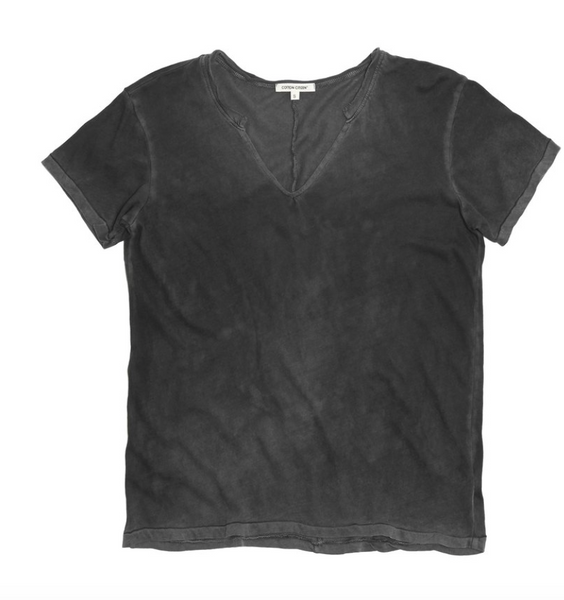 Cotton Citizen Marbella V neck - Vintage Black - Estilo Boutique