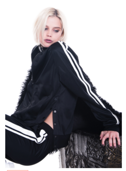 Pam & Gela Snap Track Jacket - Estilo Boutique