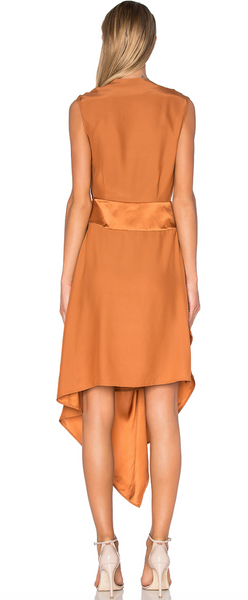 Acler Bennet Silk Dress - Bronze - Estilo Boutique