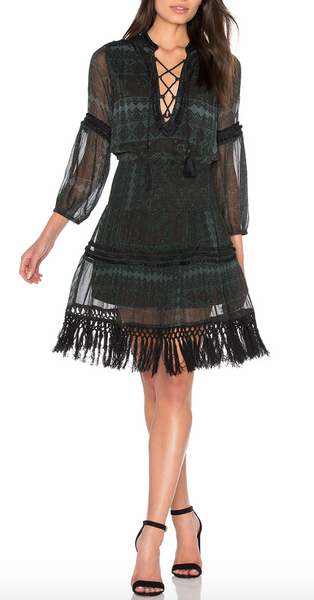 Boemo Montaigne Fringe Mini Dress - Estilo Boutique