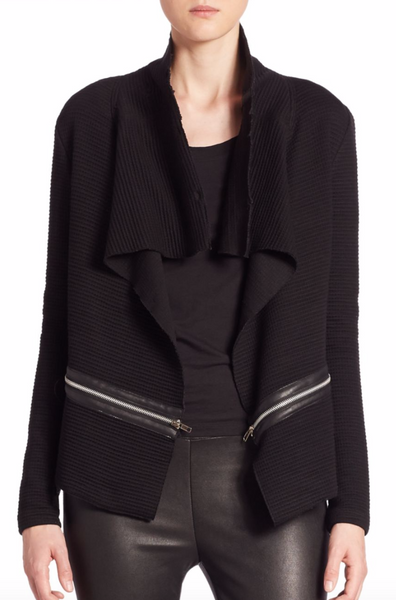 Generation Love Arielle Zipper Cardigan with Fur Collar - Estilo Boutique