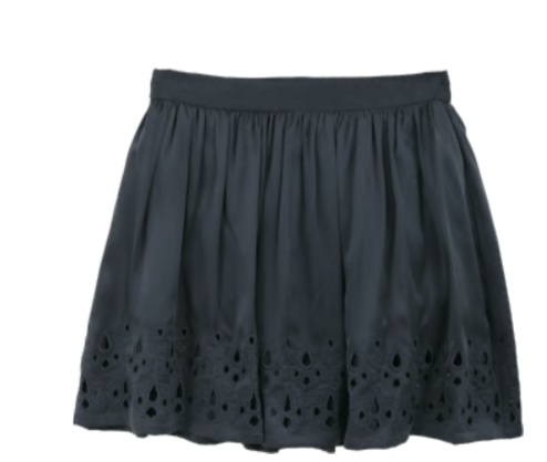The Korner Skirt with Embroidery - Estilo Boutique
