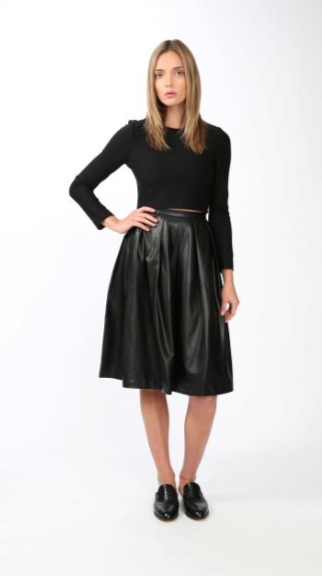 Blaque Label Vegan Full Midi Skirt - Estilo Boutique