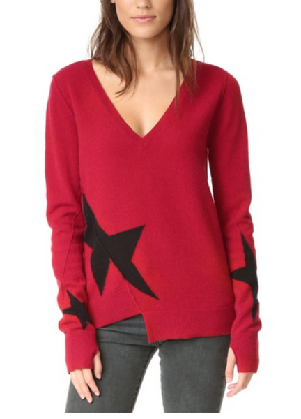 Pam & Gela Star Intarsia Sweater - Estilo Boutique