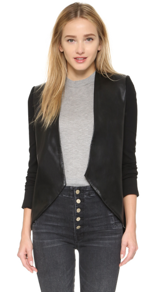 Blaque Label Sculpted Jacket with Leather Sleeves - Estilo Boutique