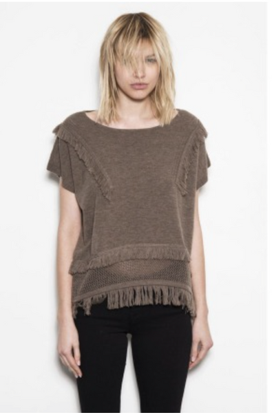 One Grey Day Bailey Sweater - Coffee - Estilo Boutique