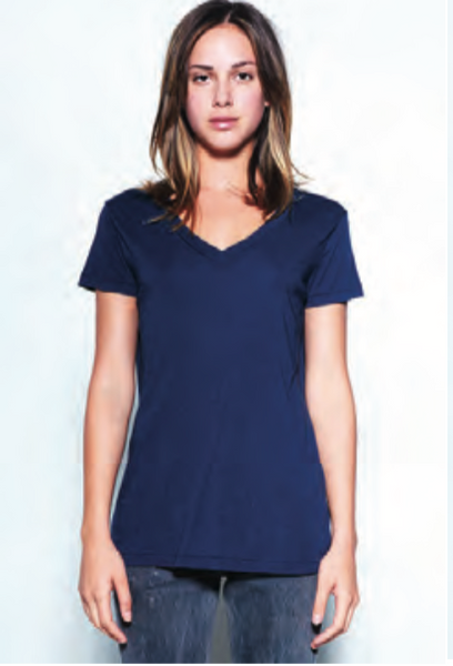 Stateside Jersey V Neck in Navy