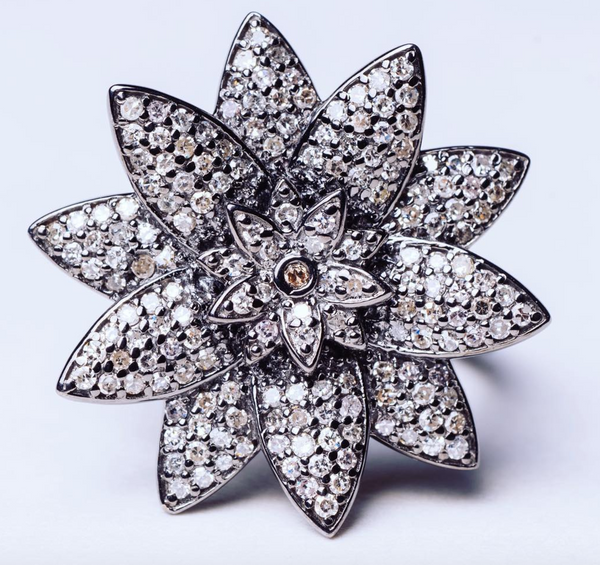 Mizana Collections Lotus Flower Diamond Ring