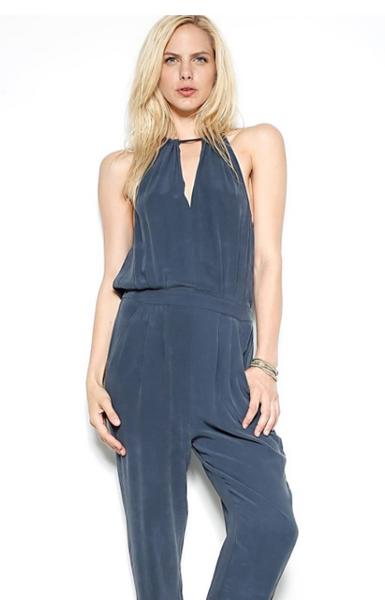 Go by Go>Silk Dress to Kill Jumpsuit in Midnight