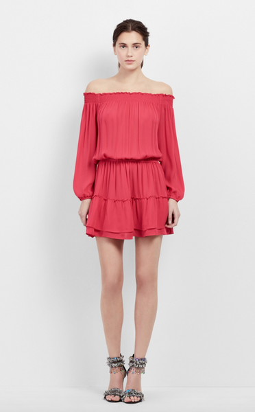 Nicole Miller Off The Shoulder Ruffle Dress