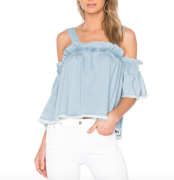 Central Park West Santa Cruz Off the Shoulder Top
