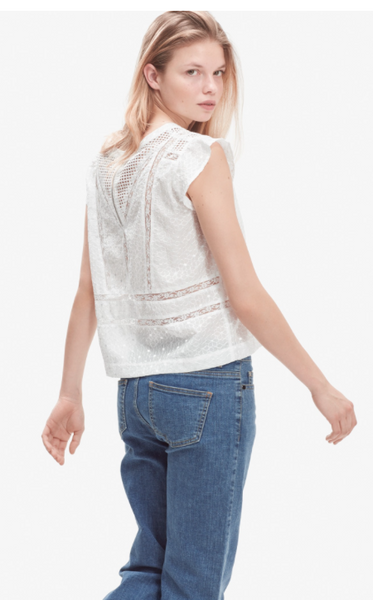 Storm & Marie Anna Top in Bright White