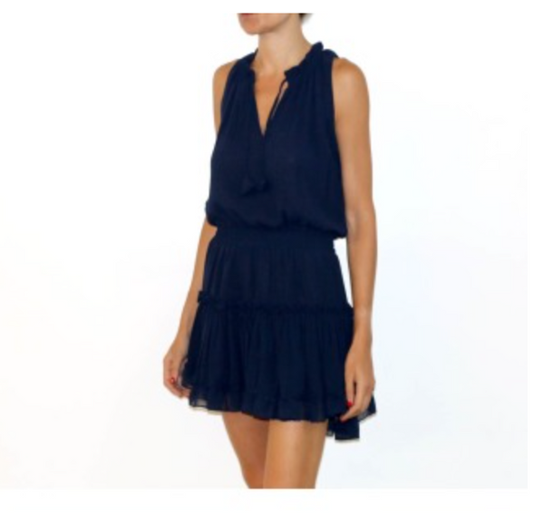 Misa Shirley Dress in Navy