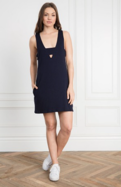 Feel the Piece Madison Dress in Navy