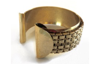 Nicole Romano Chain and Folded Disc Cuff