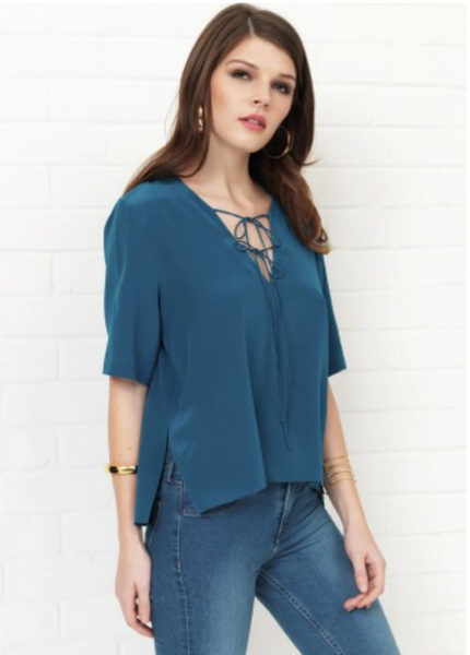 Amanda Uprichard Berlin Top - Teal