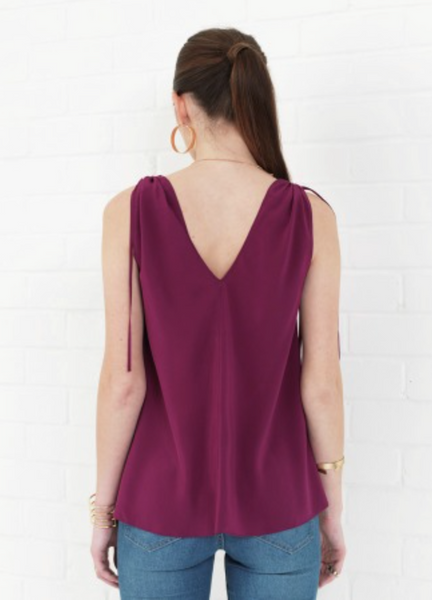 Amanda Uprichard Moscotto Top in Mulberry