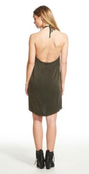 Chaser Heirloom Halter Mini Dress
