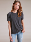 Nation LTD Studio City BF Tee In Dark Charcoal