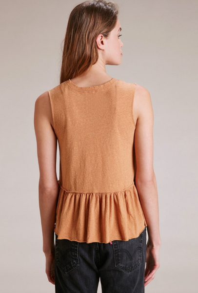 Nation LTD Lafayette Peplum Cropped Top