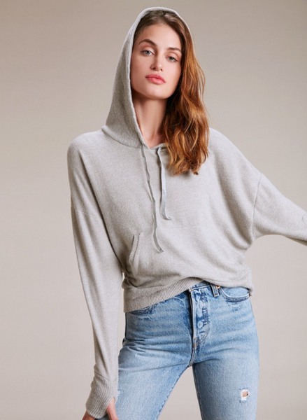 Nation LTD Venice Cocoon Sport Sweatshirt In Blizzard
