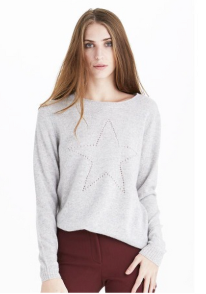 27 Miles Crew Neck Long Sleeve with Star Pointelle Sweater