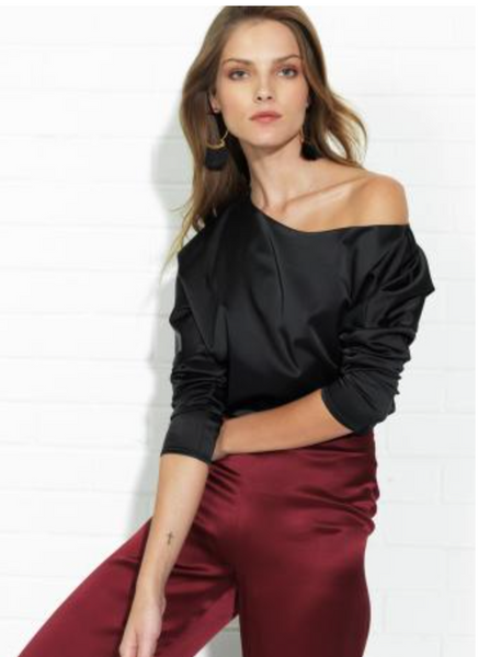 Amanda Uprichard Avalon Top in Black