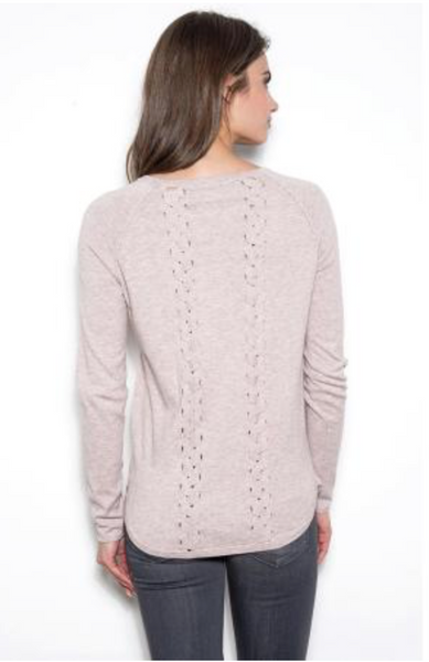 One Grey Day Brett Back Pullover