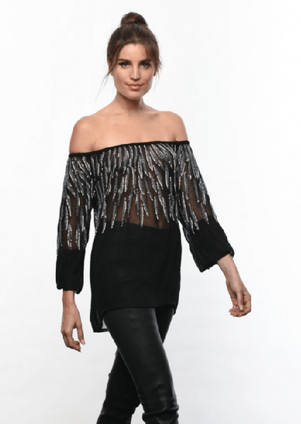 Karina Grimaldi Camila Beaded Top