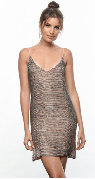 Karina Grimaldi Rocio Beaded Mini Dress