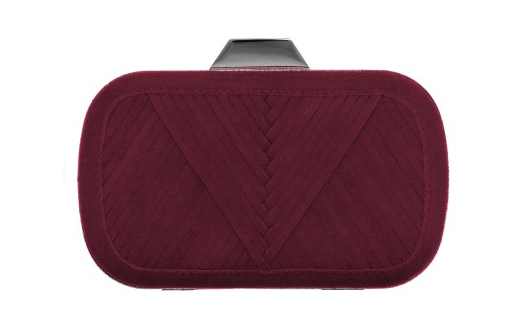 Lili Radu Shell V Clutch In Bordeaux