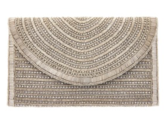 St. Xavier Bailey Clutch in Silver