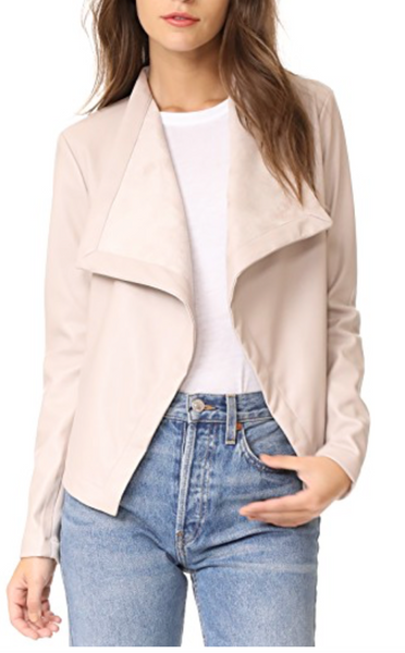 BB Dakota Drape Front Jacket in Latte