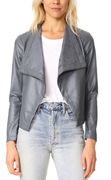 BB Dakota Drape Front Jacket in Grey
