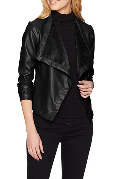BB Dakota Drape Front Jacket in Black